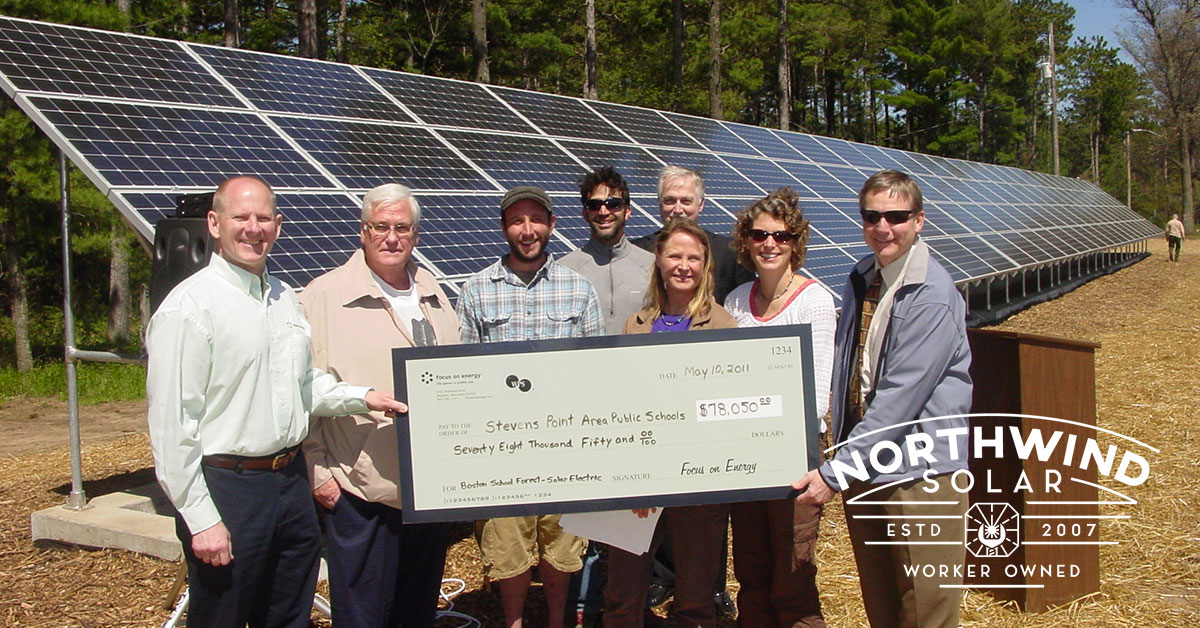 solar financing for churches in Stevens Point, WI