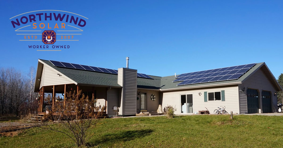 residential solar panel installation in Tomahawk, WI